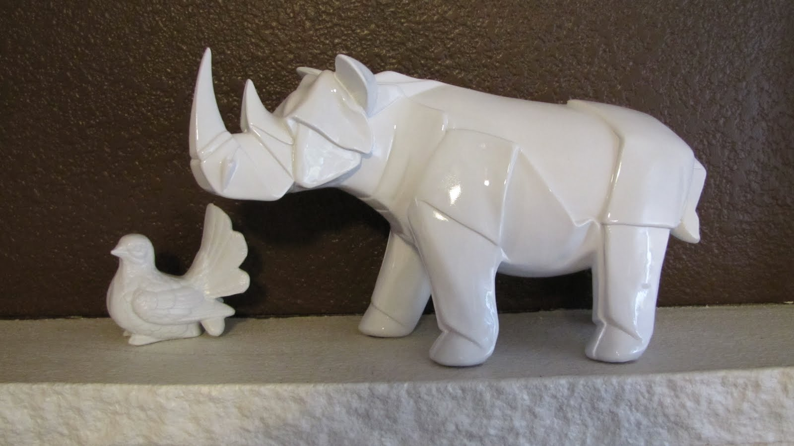 White Ceramic Animals