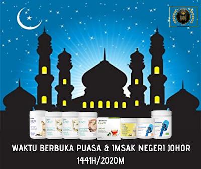 Waktu Berbuka Puasa & Imsak Negeri Johor Tahun 2020