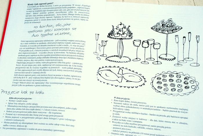 Wnętrze książki, cenne porady dotyczące organizowania przyjęć
