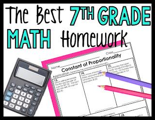 The best 7th grade math homework