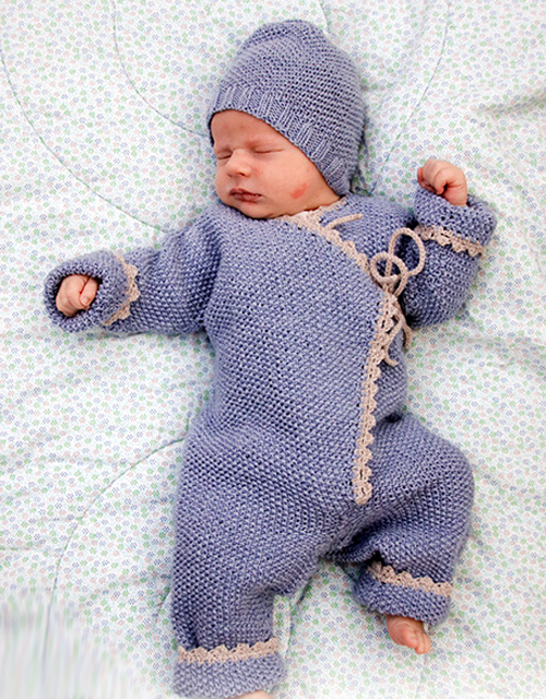 Knitted Overall and Hat - Free Pattern