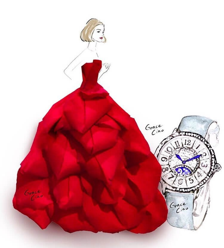 02-Ruby-Dress-and-watch-Grace-Ciao-www-designstack-co