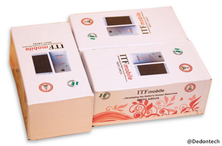 ITF Mobile: Nigerian first Smartphone on white background