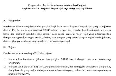Download Juknis,SP kepala sekolah dan SK PTK Aktif Untuk Inpassing 2017