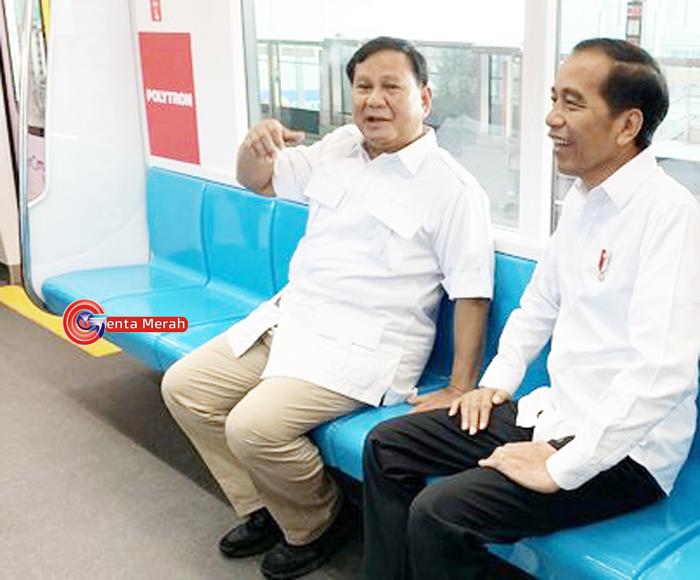Beremu di MRT, Prabowo Siap Bantu Pemerintahan Jokowi