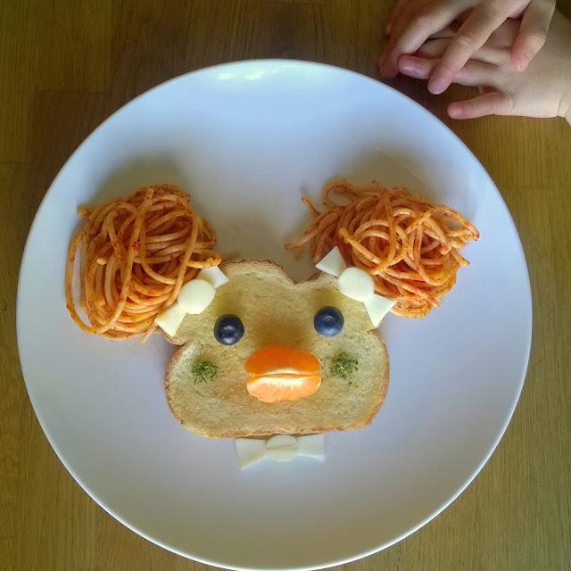 Spaghetti food art