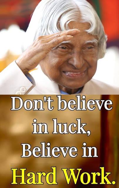 Abdul Kalam inspirational sayings
