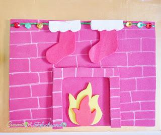 chimenea-cartel-navideño-reciclando-cartón-y-goma-eva-creandoyfofucheando