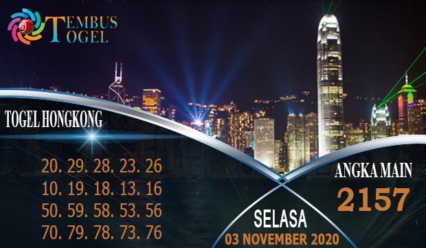 Taruhan Togel Hongkong Hari Selasa 03 November 2020