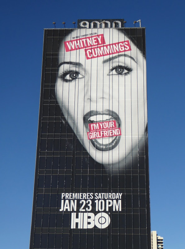 Giant Whitney Cummings I'm your Girlfriend comedy special billboard