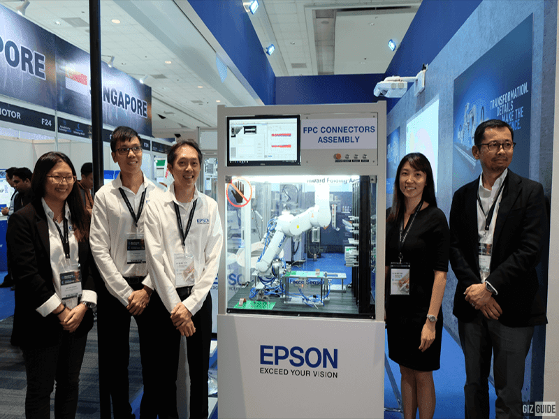 Executives from Epson Corporation present during the exhibit launch