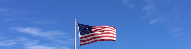 Amerika Flagge im Wind