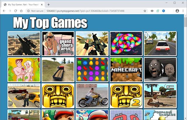 redirecciones a Mytopgames.net
