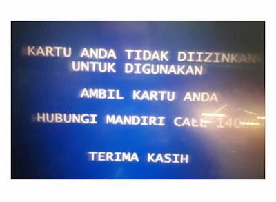 Penyebab tidak bisa Cek Saldo ATM mandiri