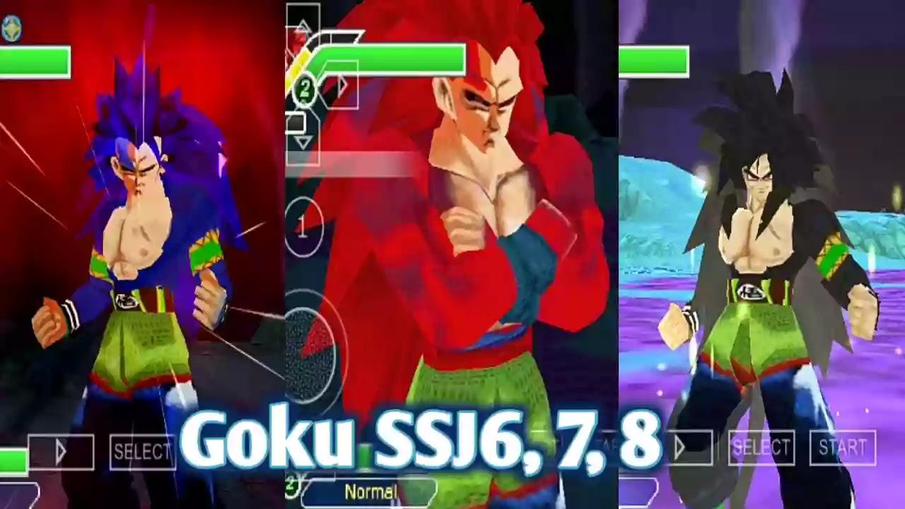 Goku SSj6, SSJ7, and SSJ8 DBZ TTT MOD