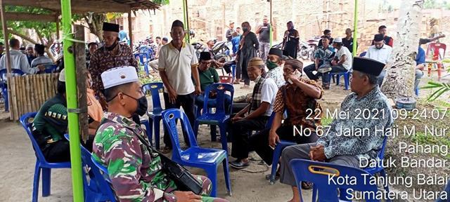 Turut Berduka, Personel Jajaran Kodim 0208/Asahan Melayat Salah Satu Warga Binaan Yqng Meninggal Dunia