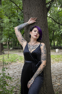лилава коса татуировки мода блог