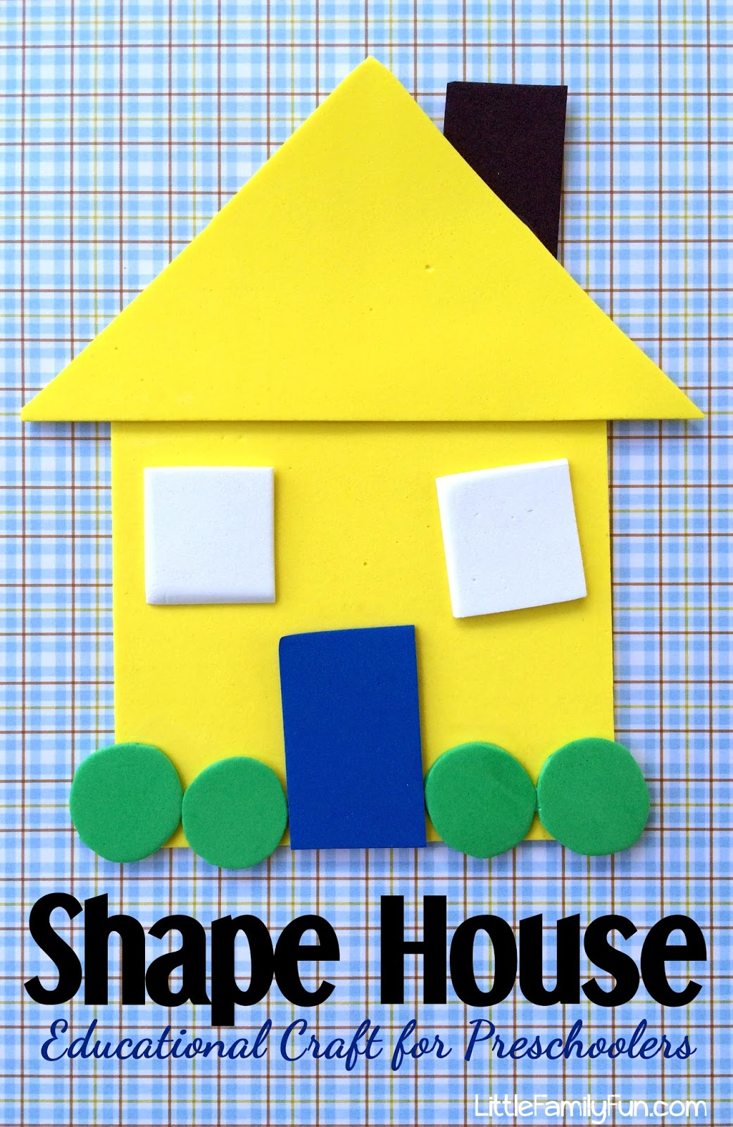 Learn about crafts kids can make to celebrate thanksgiving. Little Family Fun Shape House Educational Craft