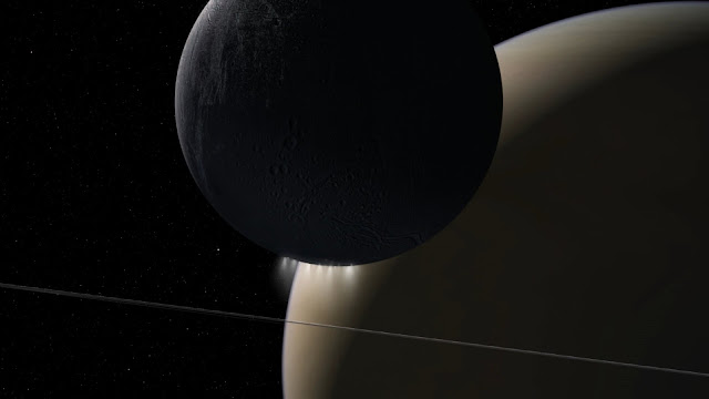 Sound of electromagnetic energy moving between Saturn, Enceladus