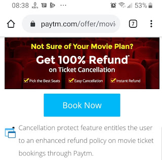 Cancel Movie Ticket in PayTM