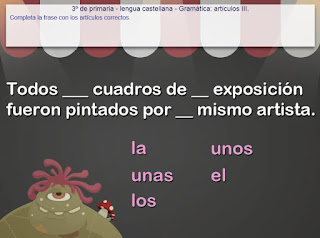 http://www.mundoprimaria.com/juegos-lenguaje/juego-articulos/