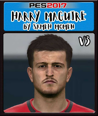 PES 2017 Harry Maguire Face by Sameh Momen