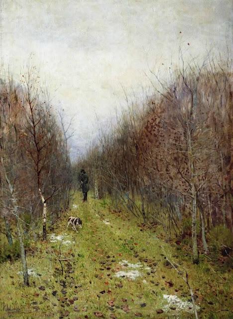 Исаак Ильич Левитан - Осень. Охотник. 1880