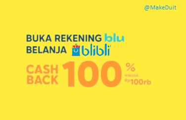 Kode Promo Blu Blibli Cashback Hingga 100%