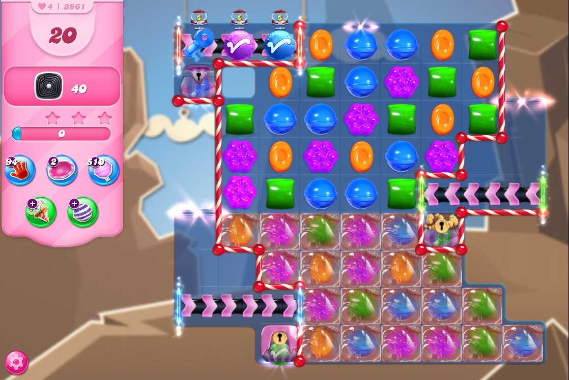 Candy Crush Saga level 3961