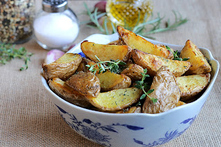 Fry potatoes