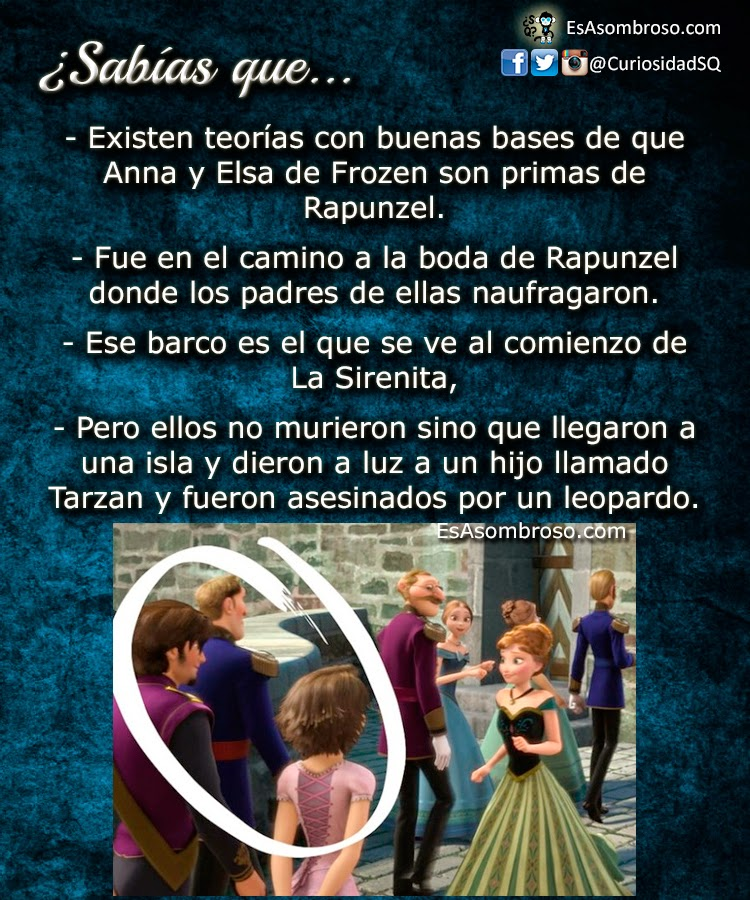 Teorías que relacionan Frozen, La Sirenita, Enredados y Tarzán en el mismo universo!