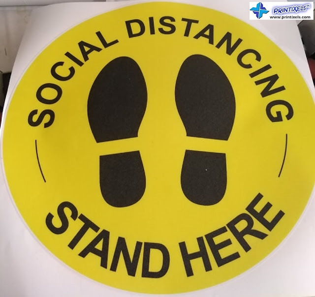 Round Social Distancing Floor Sticker Philippines
