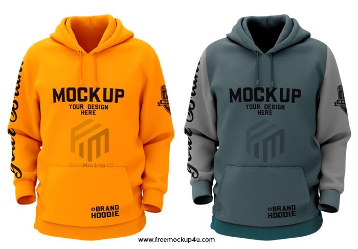 Sweatshirt Brand Hoodie PSD Mockup Design