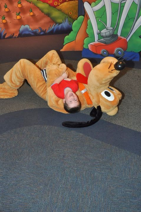character spot at disney, pluto