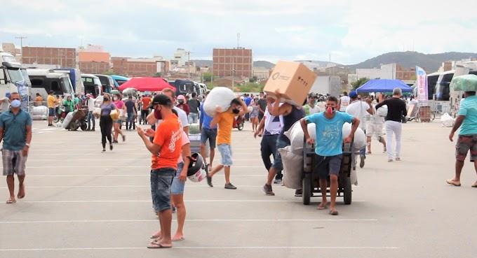 Moda Center Santa Cruz continua recebendo transportadoras enquanto se prepara para reabertura