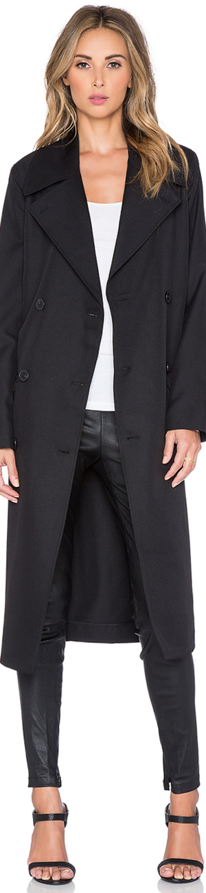 T BY ALEXANDER WANG SLEEK TRENCH COAT
