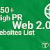 Top 50 Website 2.0 có PR cao cập nhật 2016