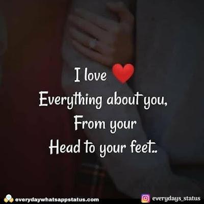 romantic quotes | Unique 20+ Love Quotes in English | Everyday Whatsapp Status