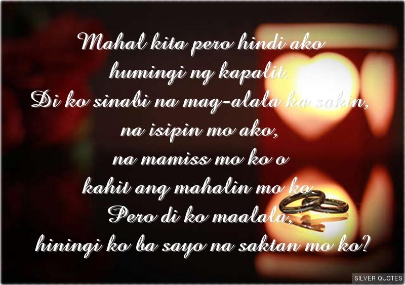 Mahal Kita Love Quotes Tagalog: Mahal Kita Quotes. QuotesGram
