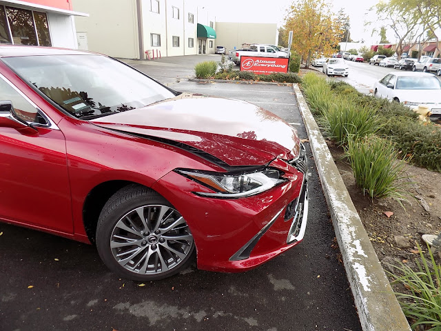 2019 Lexus ES300h before repairs at Almost Everything Auto Body.