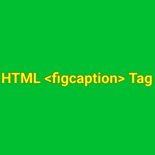 HTML <figcaption> tag