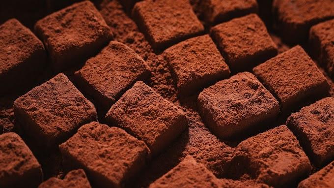 Chocolate, Cubos, Sobremesa, Pó, Doce