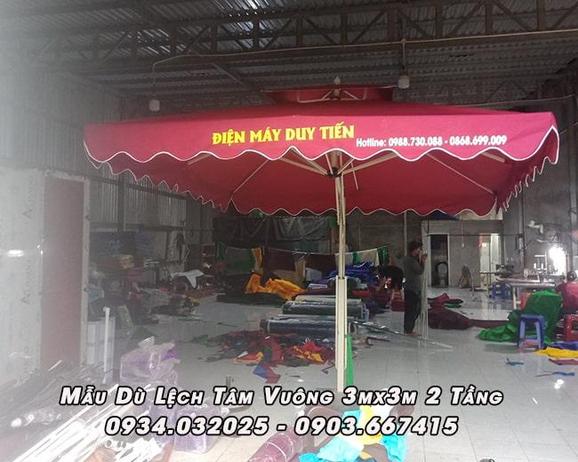 Bán Dù Che Nắng Vuông 3m Tại Nha Trang