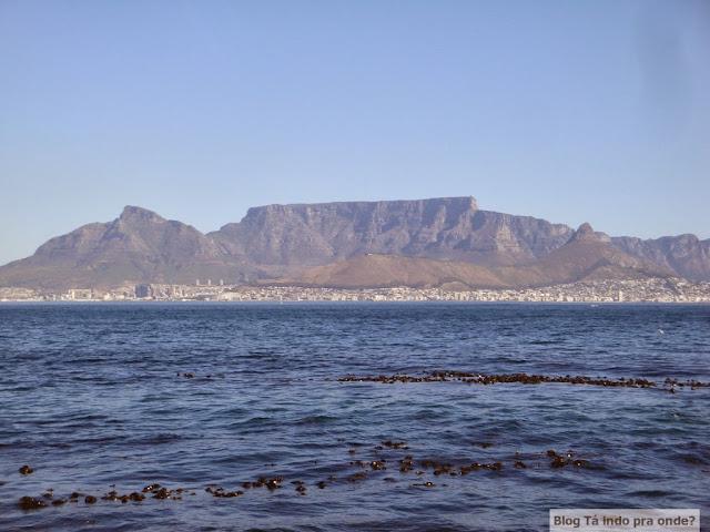 Vale a pena comprar ingressos antecipados para atrações e tours? Cidade do Cabo vista da Robben Island