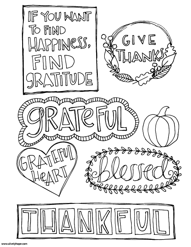 A Lively Hope: Gratitude Journal Inserts