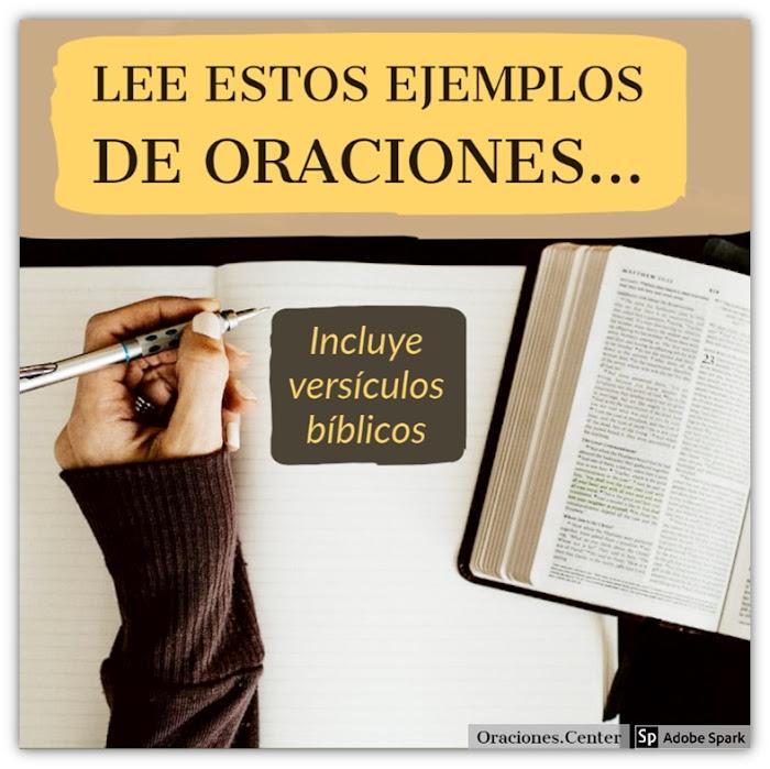 Ejemplos de Oraciones Cristianas