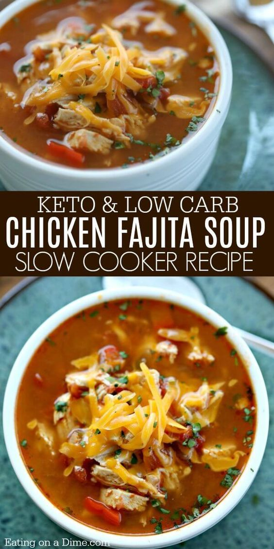 LOW CARB CROCK POT CHICKEN FAJITA SOUP #recipes #dinnerrecipes #dinneroptions #gooddinner #gooddinneroptions #food #foodporn #healthy #yummy #instafood #foodie #delicious #dinner #breakfast #dessert #yum #lunch #vegan #cake #eatclean #homemade #diet #healthyfood #cleaneating #foodstagram
