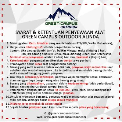sewa alat outdoor bekasi utara ( camping / gunung ) dengan harga terjangkau barang berkualitas terawat syarat mudah