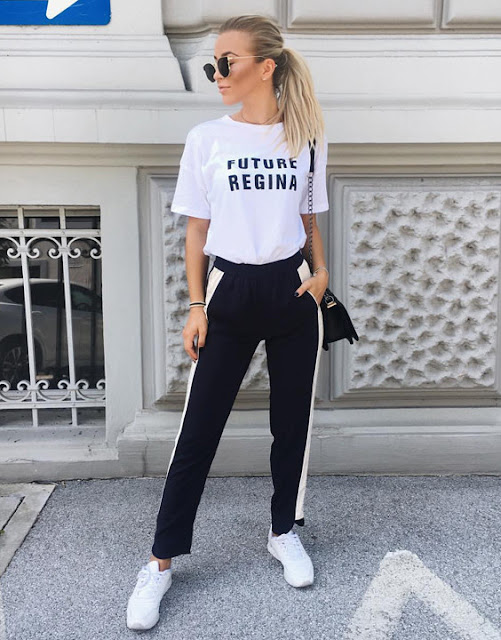 pantaloni della tuta outfit pantaloni della tuta come abbinare i pantaloni della tuta joggers pants how to wear joggers pants how to wear track pants outfits track pants  outfit primavera 2020 mariafelicia magno fashion blogger fashion blogger italiane fashion bloggers Italy colorblock by felym