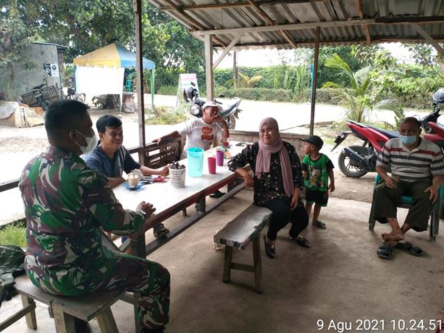 Komunikasi Sosial Dilaksanakan Personel Jajaran Kodim 0208/Asahan Dalam Rangka Jalin Silaturahmi Dengan Masyarakat Binaan